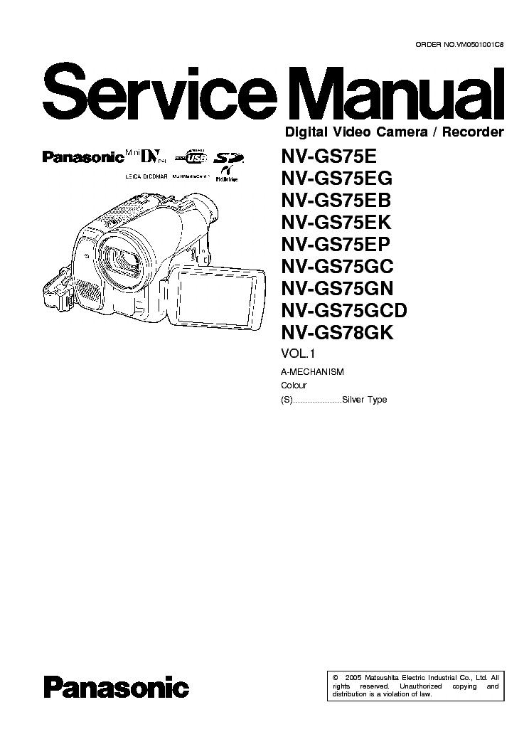 Panasonic nv gs75 инструкция