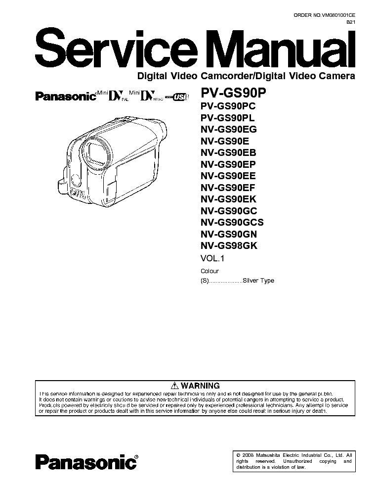 Инструкция на русском языке panasonic gs90