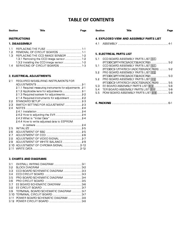 SENSORMATIC RT330C3 RT470C3 ADC732 ADC762 Service Manual