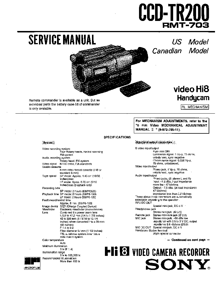 sony ccd tr200 service manual schematics eeprom sony ccd tr200 service manual