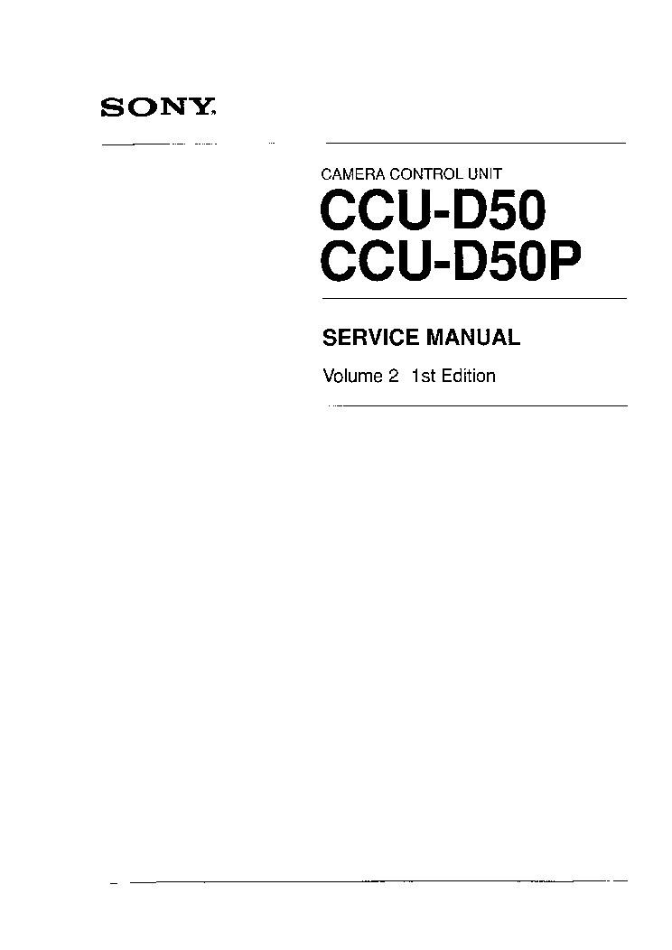 sony ccu d50 ccu d50p service manual download schematics eeprom rh elektrotanya com Sony Field Recorder sony ccu tx50 manual