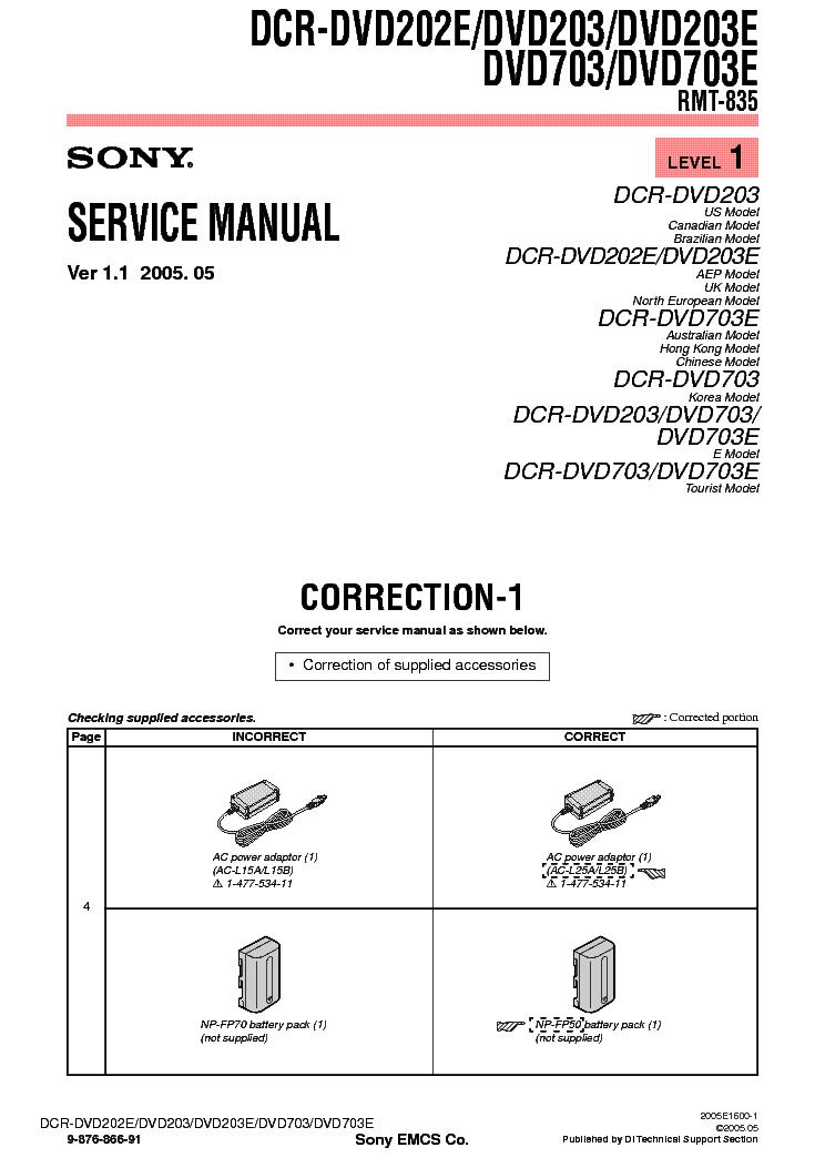 sony hdr sr11 sr11e sr12 sr12e service repair manual