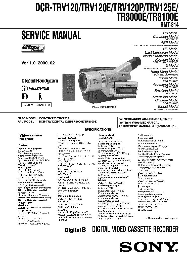 Sony DCR-TRV12 Digital8/Video8/Hi8/ночная съёмка