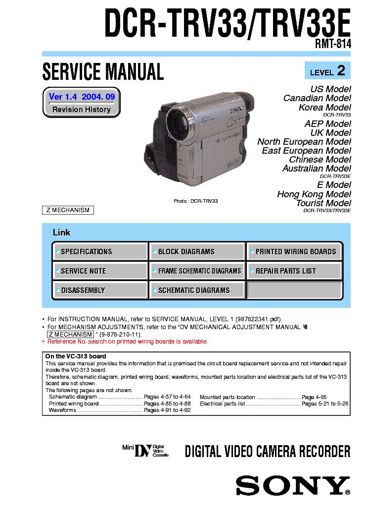 Sony dcr trv33 manual.