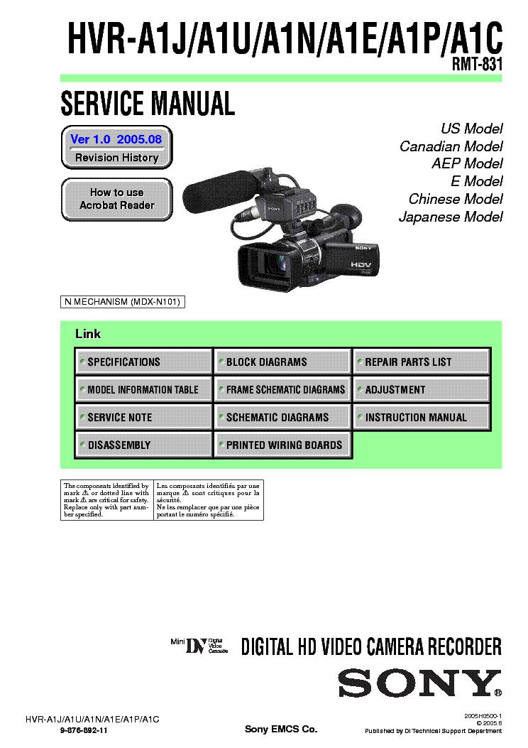 Инструкция Sony Hvr M15U