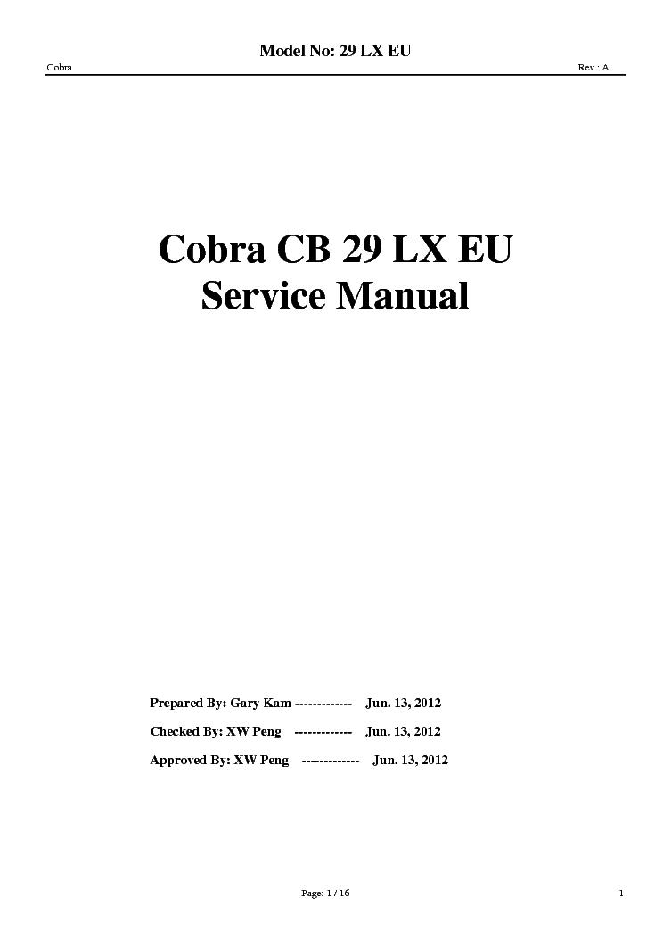 cobra cb 29 lx eu sm service manual download schematics eeprom rh elektrotanya com cobra 29 ltd classic owners manual cobra 29 lx owners manual