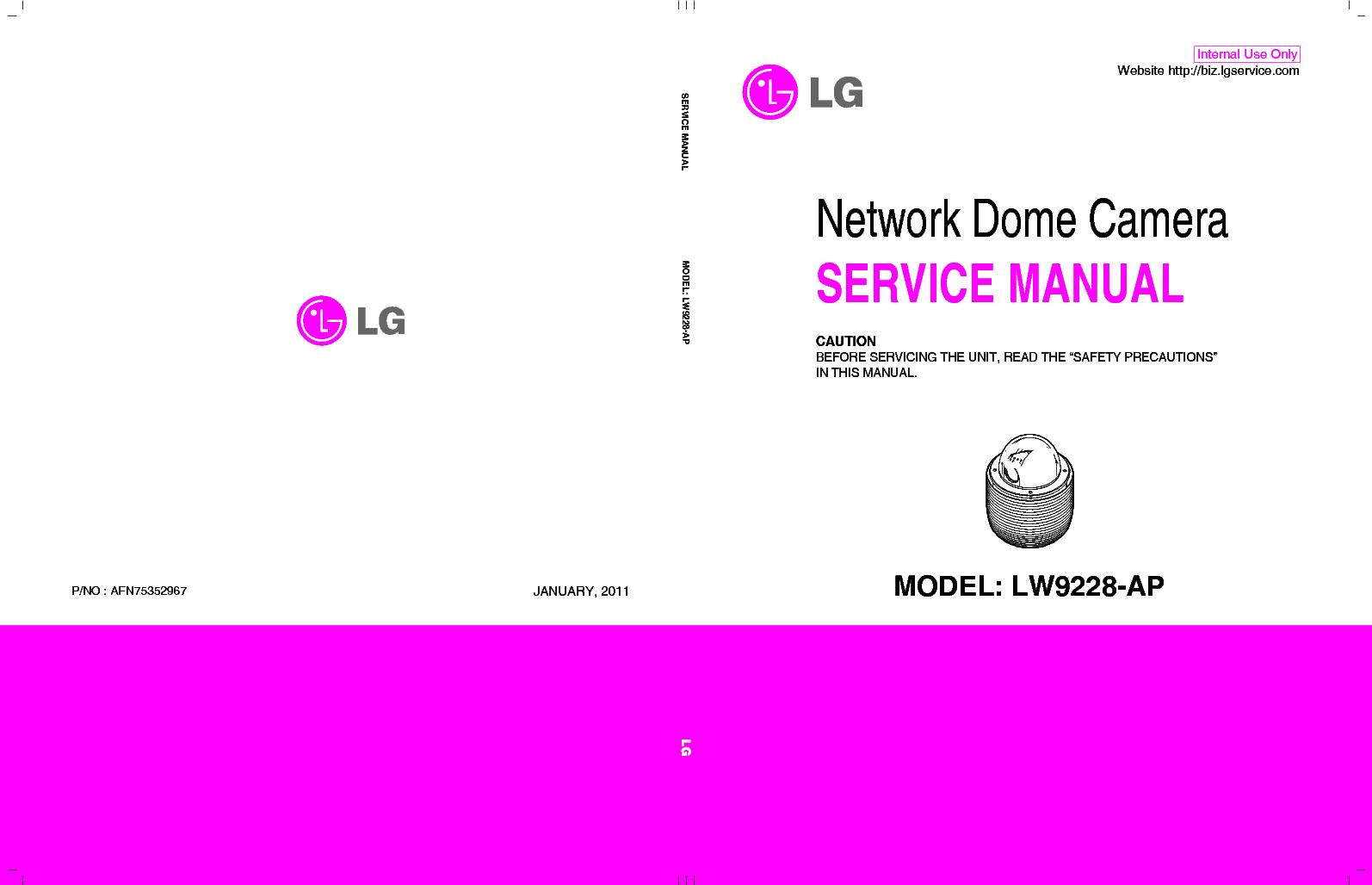 LG LW9228-AP AFN75352967 service manual (1st page)