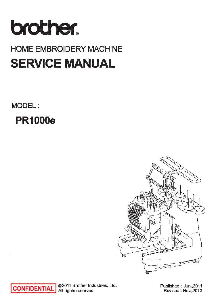 brother pr1000e sm service manual download schematics eeprom rh elektrotanya com Jerry Brothers Industries Brother Memphis TN
