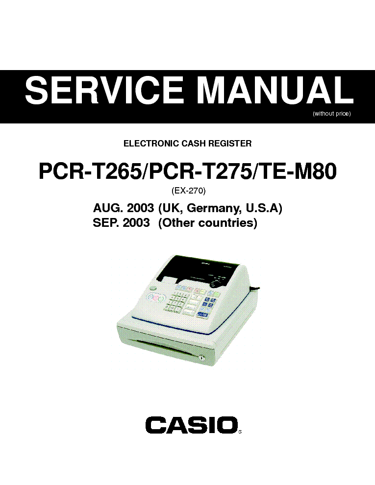 Casio pcr-360 electronic cash register download instruction manual pdf.