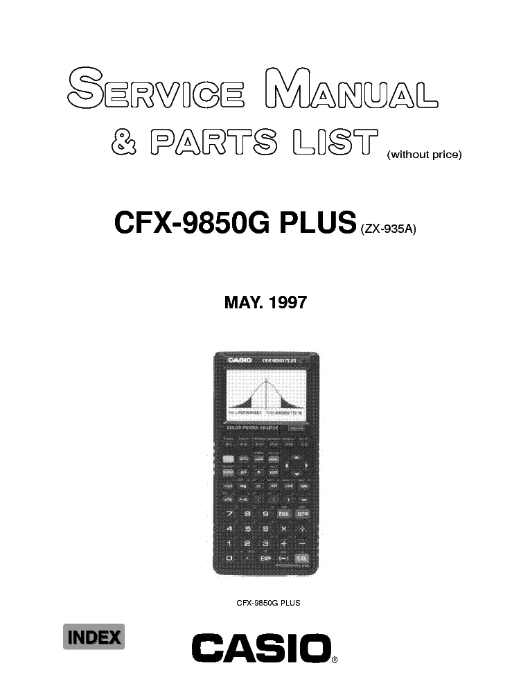 CASIO CFX-9850G PLUS service manual (1st page)