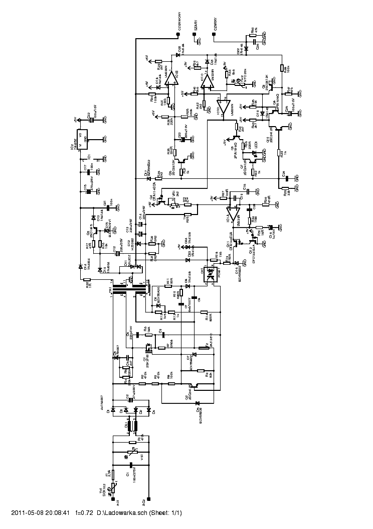 MAKITA DC1470 CHARGER SCH Service Manual download, schematics ... on