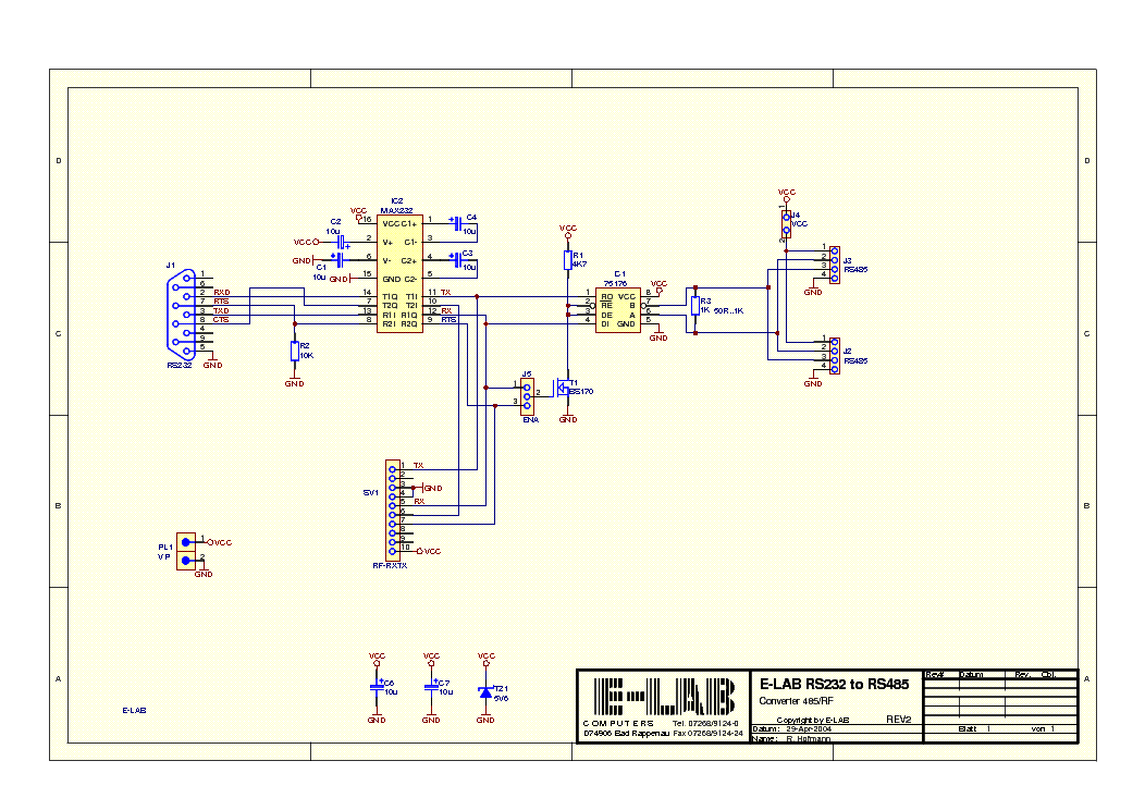 rs232 to rs485 circuit diagram pdf download wiring diagrams u2022 rh osomeweb com USB to Serial Wiring-Diagram Cable Wiring Diagram