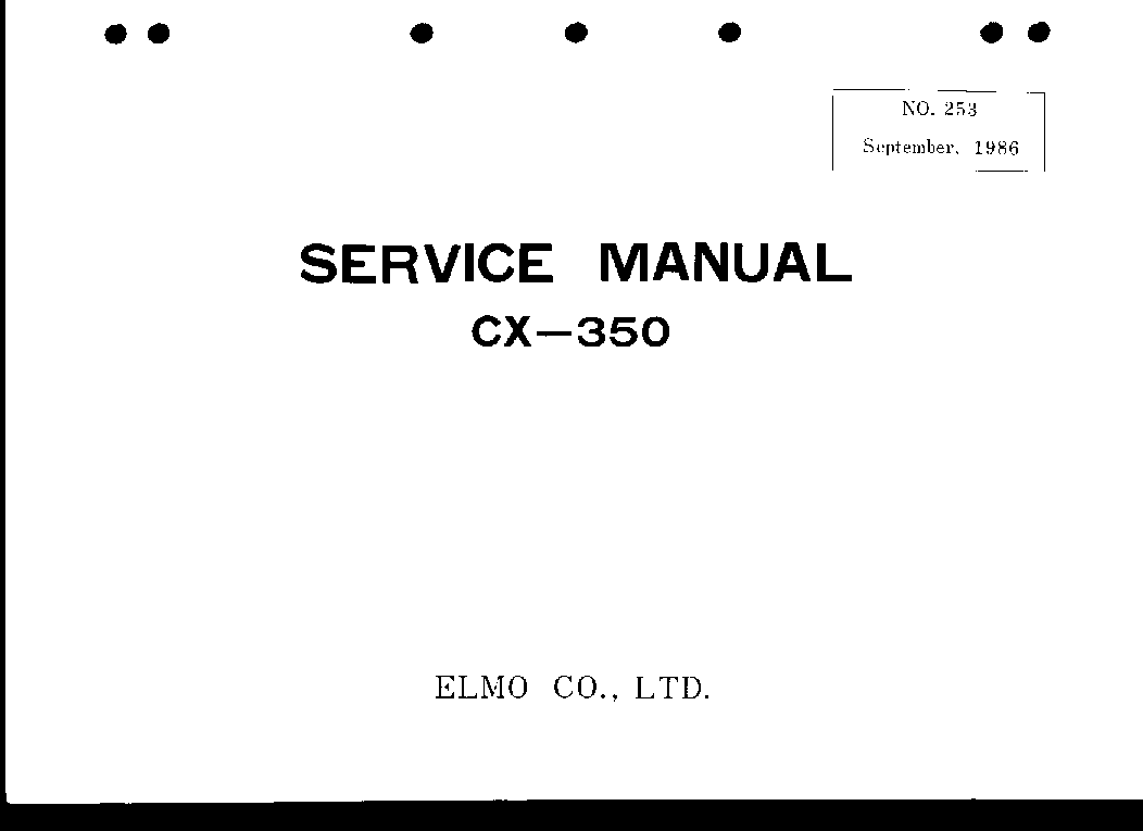 ELMO CX-350 service manual (1st page)