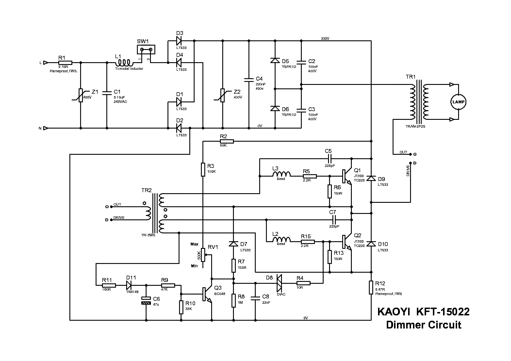 kaoyi dimmer service manual download  schematics  eeprom  repair info for electronics experts