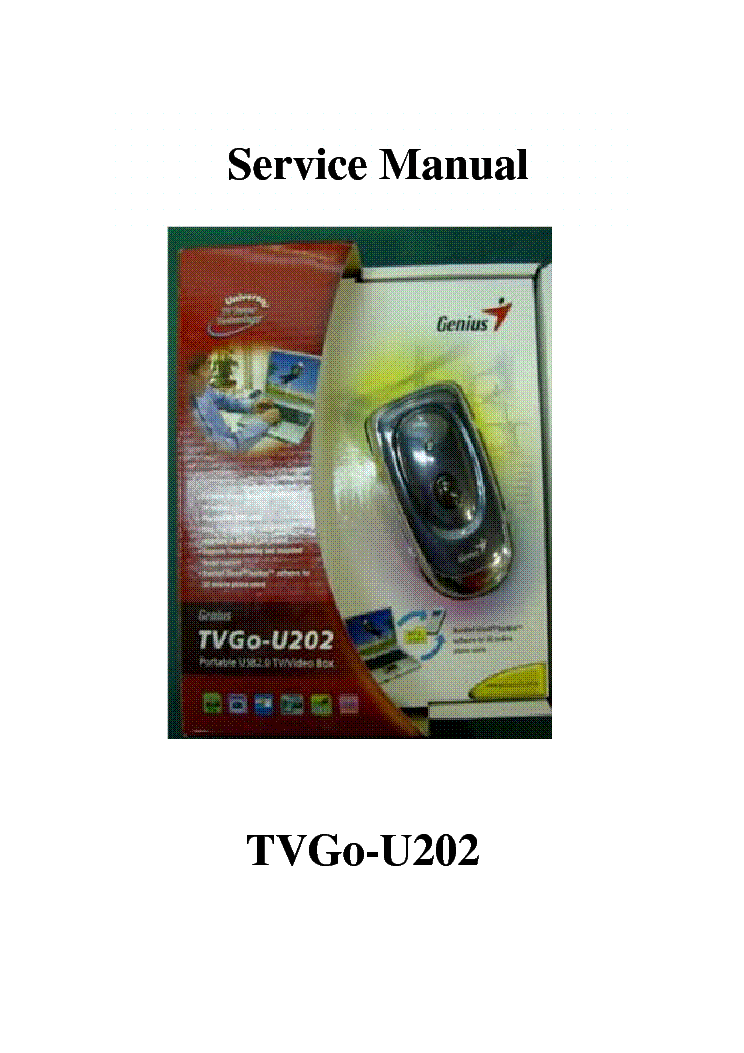 Genius TVGo-U202 Download Driver
