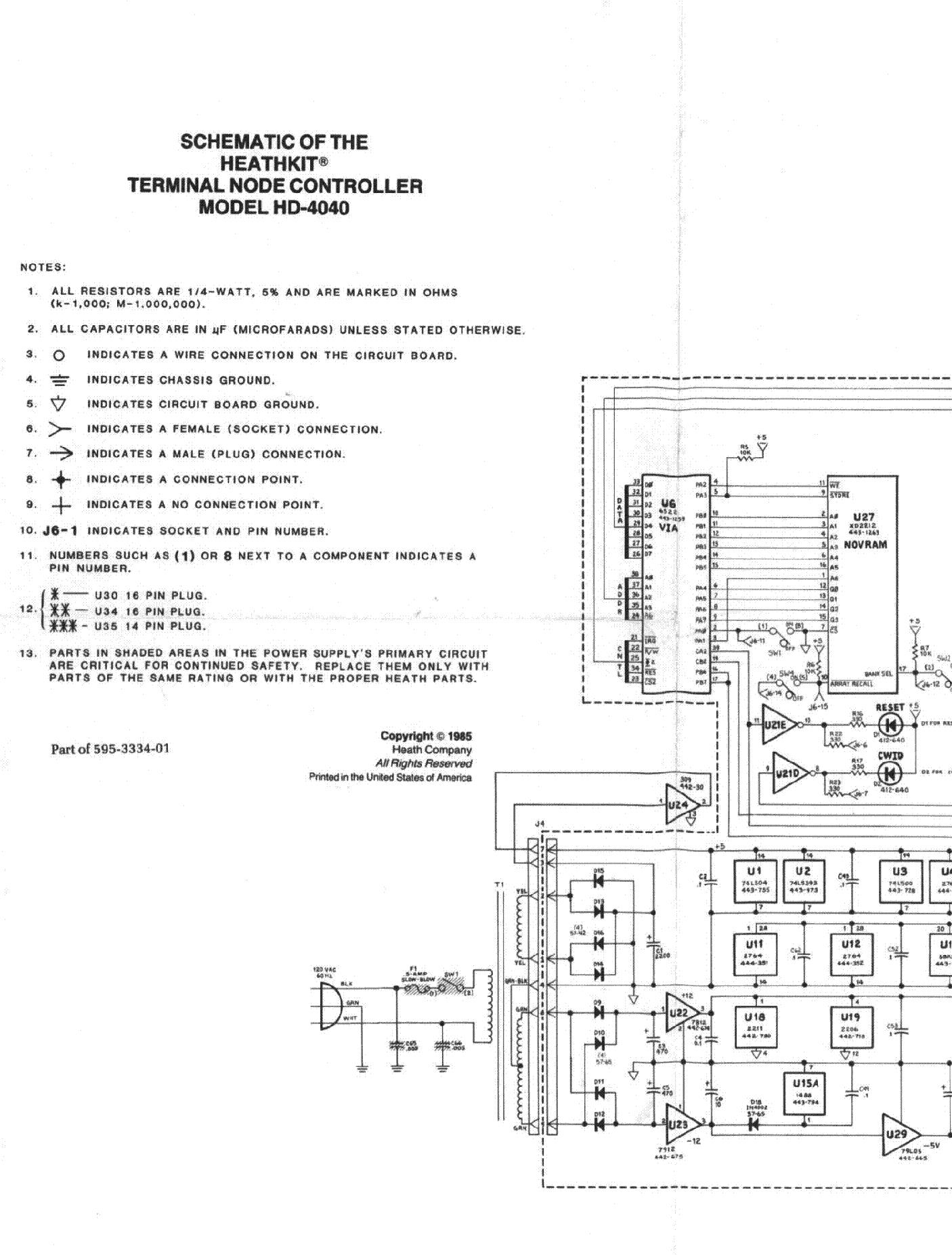 HEATHKIT HD-4040 TERMINAL NODE CONTROLLER SM service manual (2nd page)