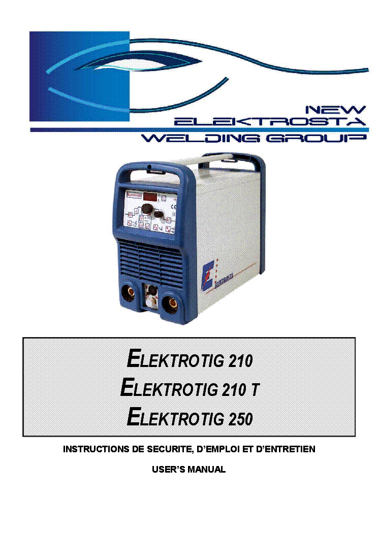 Elektrosta Elektrotig 210 210t 250 Wiring Diagram And User