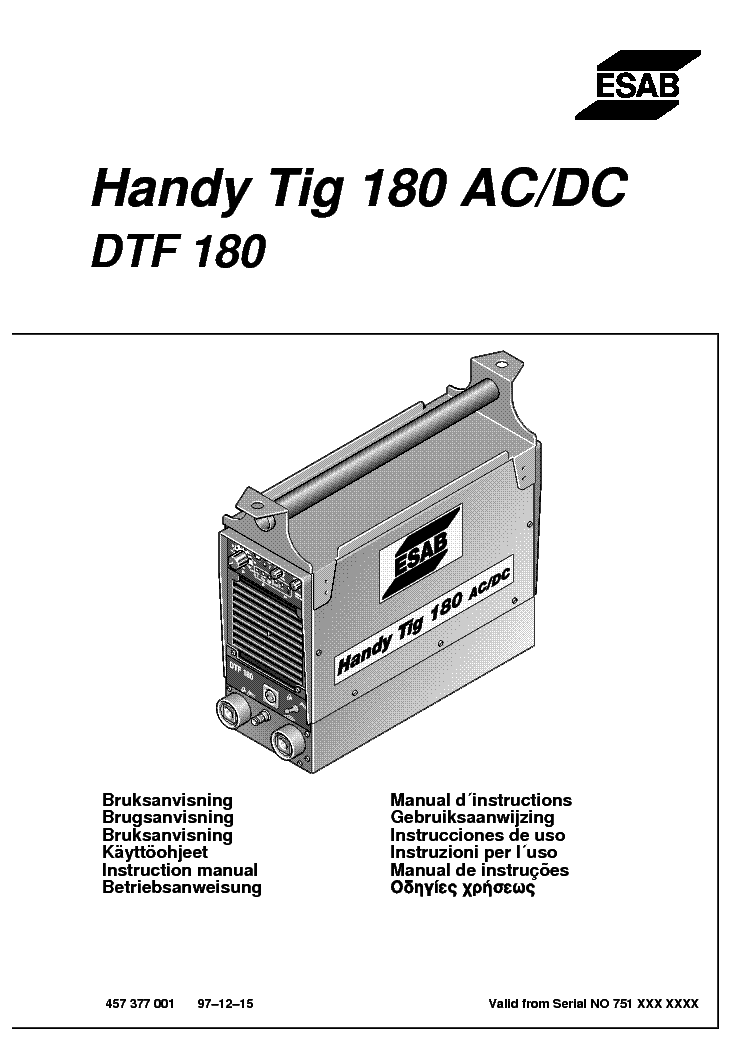 esab dtf 180 handy tig 180 ac dc sm service manual download rh elektrotanya com gysmi tig 180 ac/dc service manual Angus Young