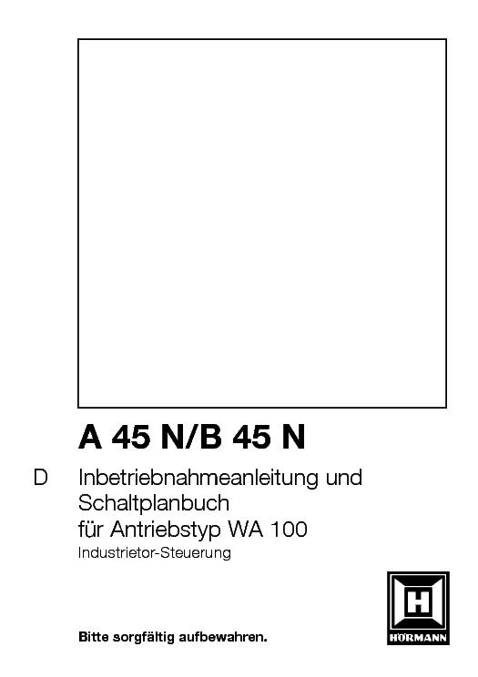 инструкция hormann a445