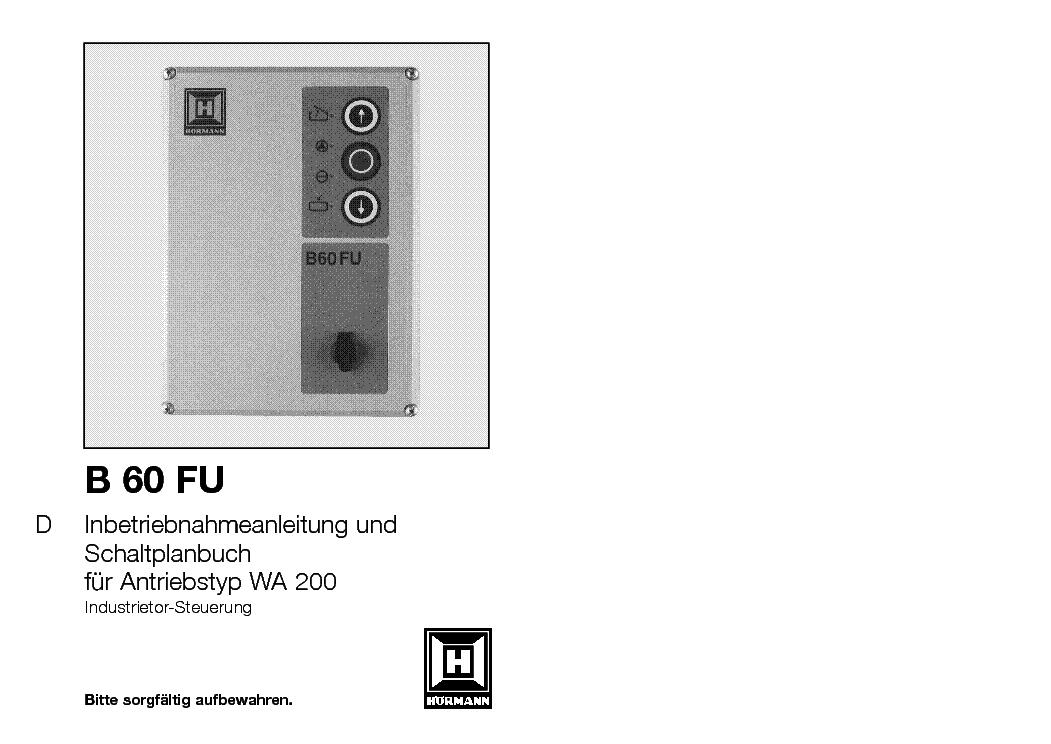 hormann b460 fu manual pdf