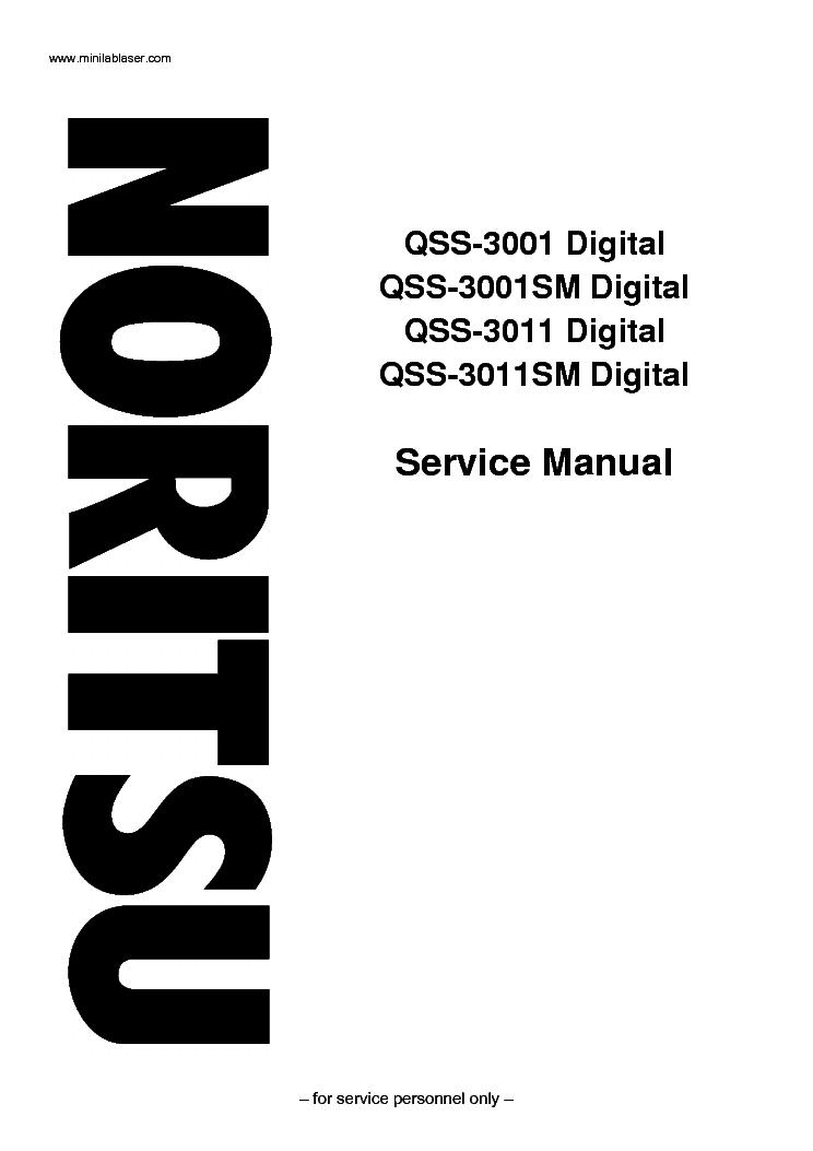 noritsu qss 3001 qss 3011 sm service manual download schematics rh elektrotanya com