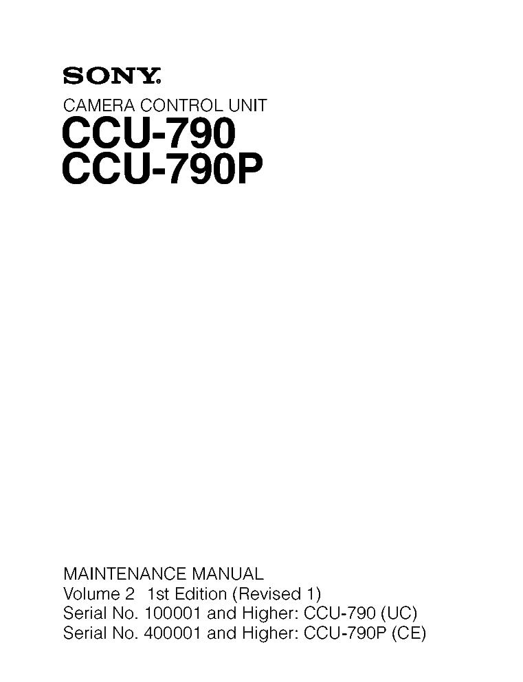 Sony Ccu