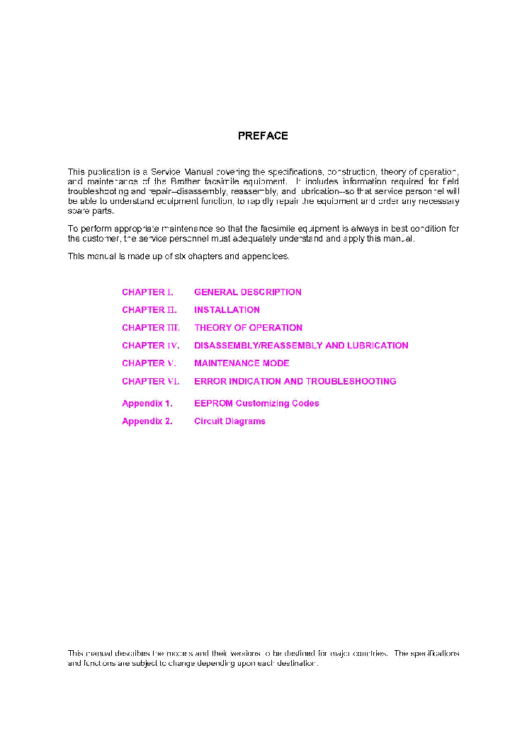 Brother Fax 560 580mc T72 T74 T76 Mfc 660mc Service Manual