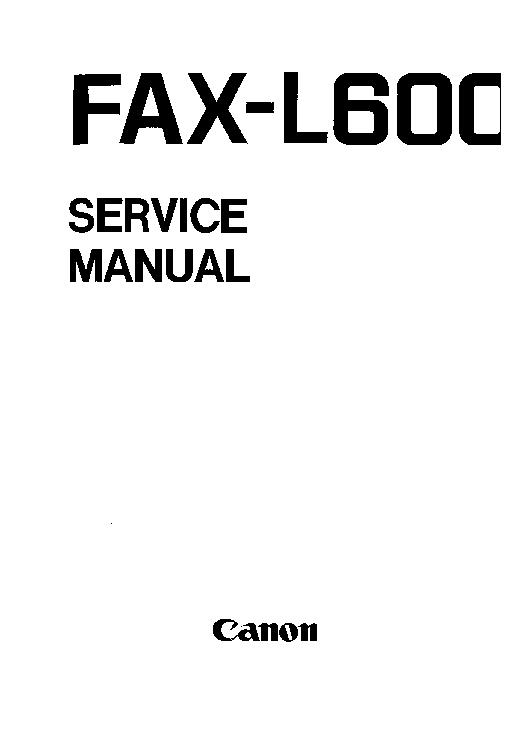 canon fax l600 sm service manual download schematics eeprom rh elektrotanya com canon imagerunner c3220 service manual
