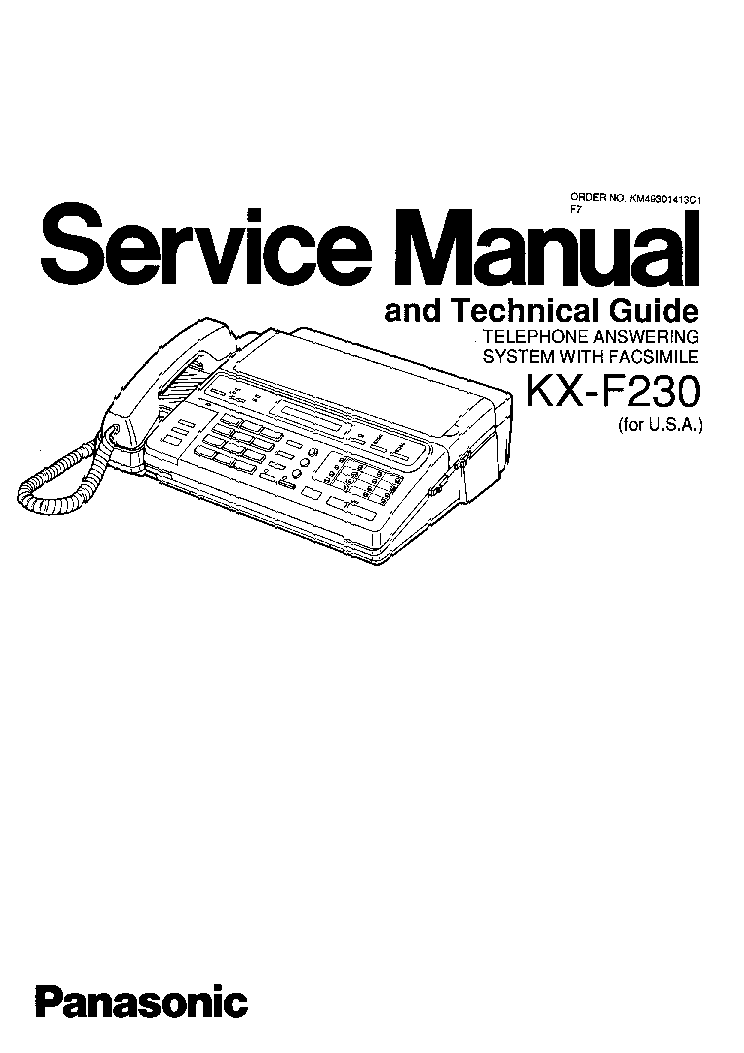 panasonic kx f230 sm service manual download schematics eeprom rh elektrotanya com Old Fax Machine Fax Machine Cartoons