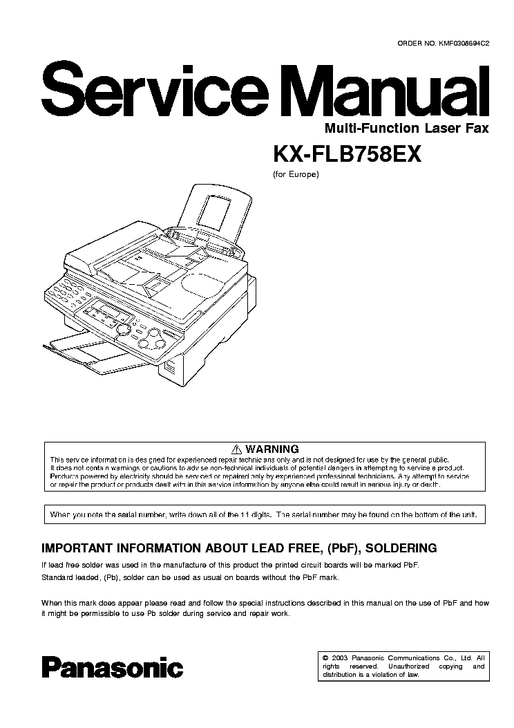 PANASONIC KX-FLB753RU MULTI-FUNCTION STATION WINDOWS 10 DOWNLOAD DRIVER