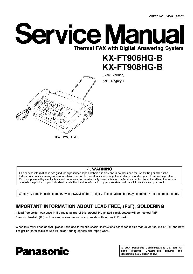 Инструкция К Факсу Panasonic Kx-Ft 72.Doc