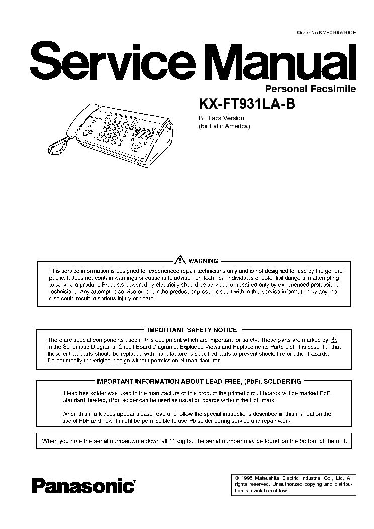 Инструкция panasonic kx tcd460