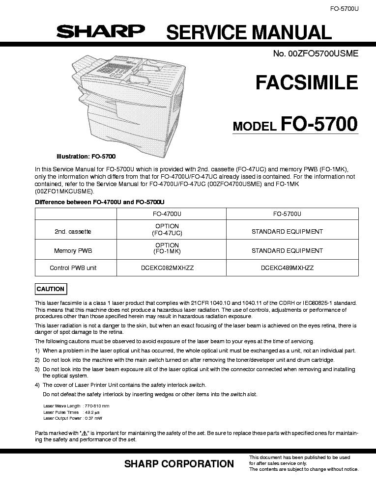 manual sharp f0 455