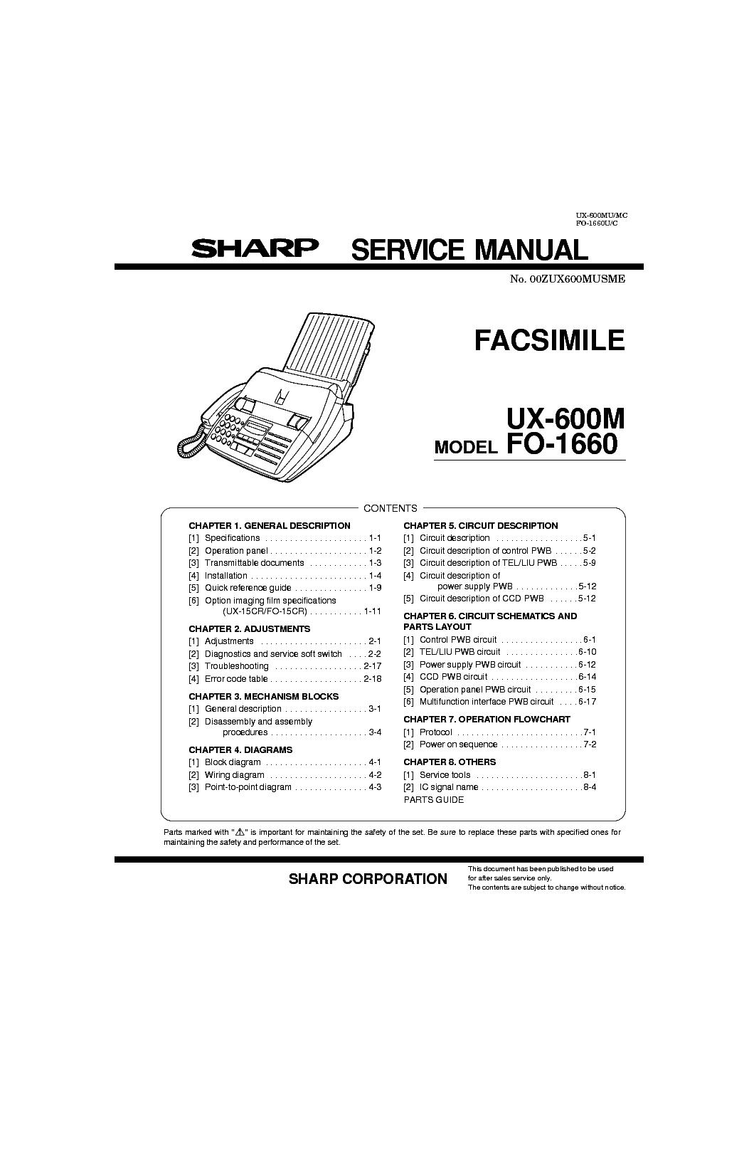 sharp ux 510a fax machine