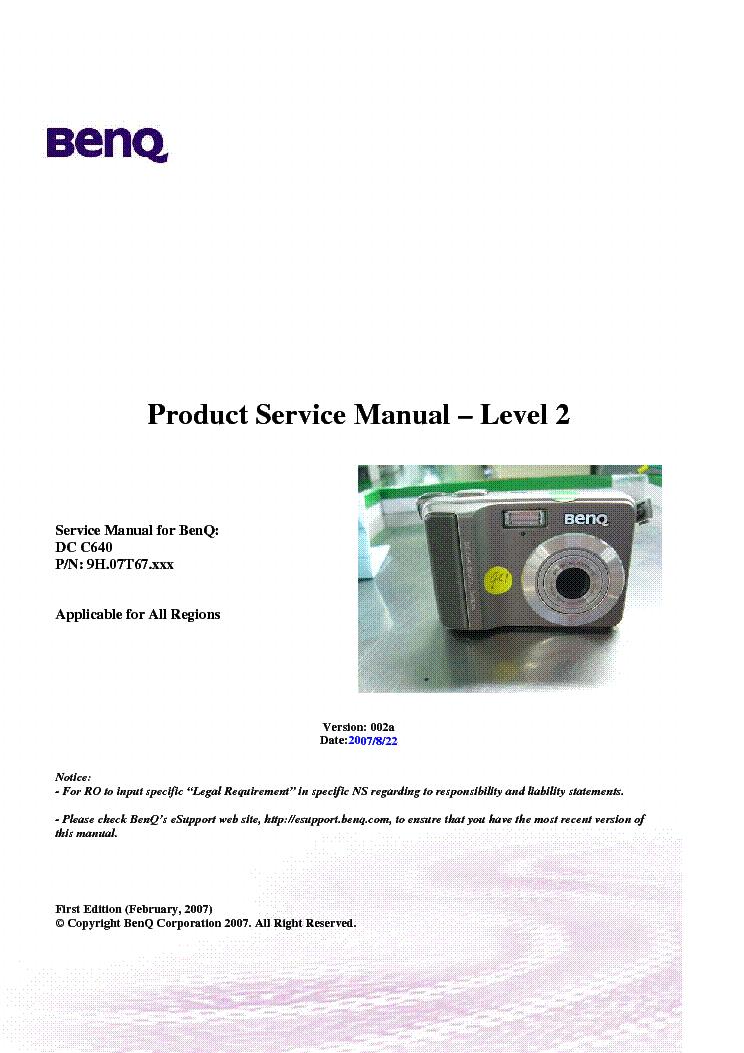 benq dc c640 ver 002a level2 camera service manual download rh elektrotanya com Nikon Digital Camera Olympus Digital Camera