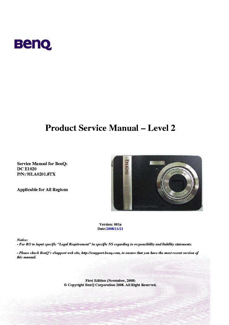 benq dc e1020 ver 001a level2 camera service manual download rh elektrotanya com Olympus Digital Camera BenQ Digital Camera Malaysia