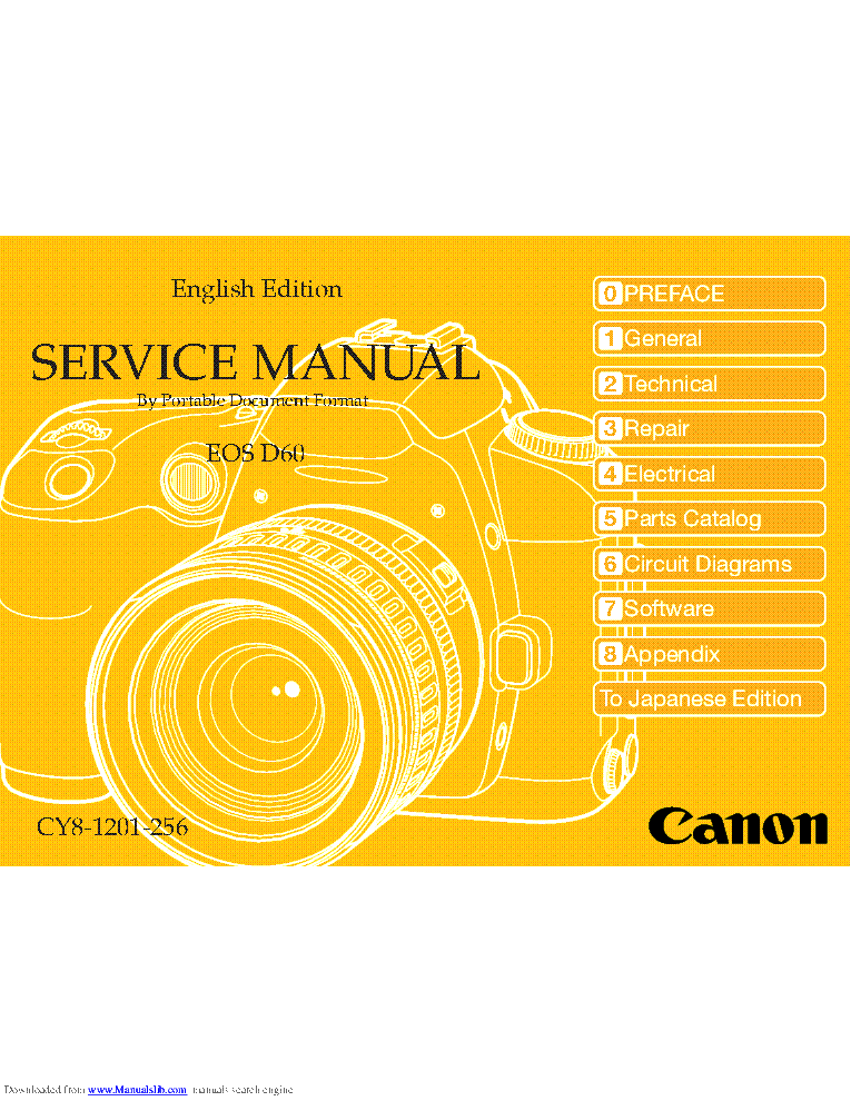 CANON EOS-D60 SM service manual (1st page)