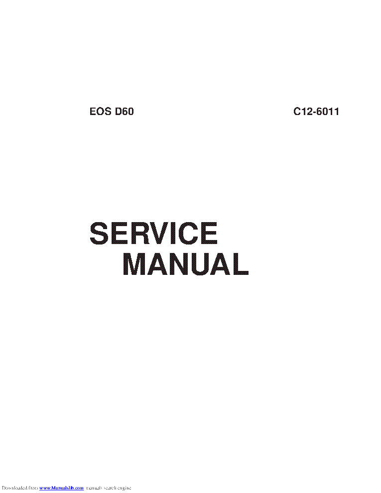 CANON EOS-D60 SM service manual (2nd page)