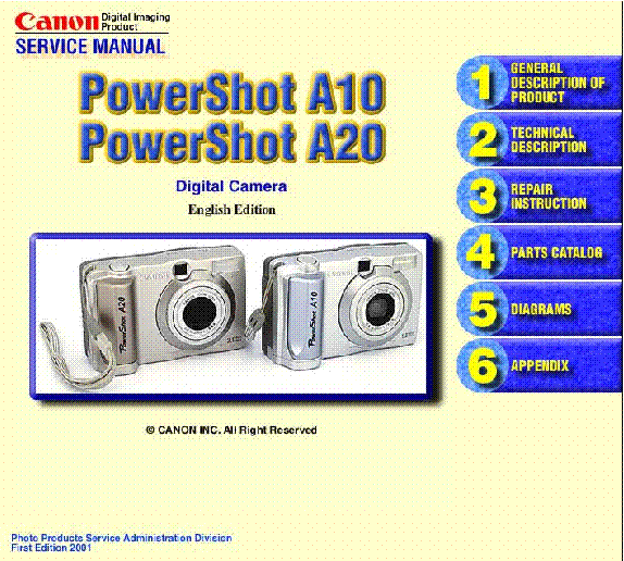 canon powershot a10 a20 service manual download schematics eeprom rh elektrotanya com Canon PowerShot User Manual Canon PowerShot Manual Controls