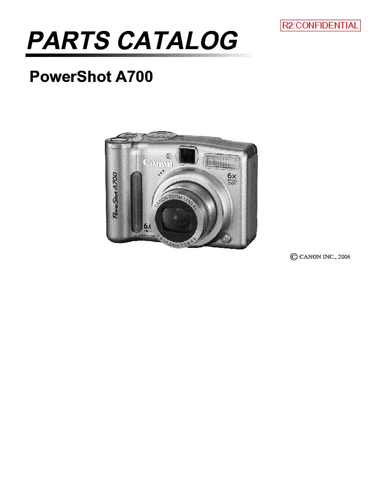 canon powershot a700 parts service manual download schematics rh elektrotanya com canon powershot a700 manual Canon T3i Manual