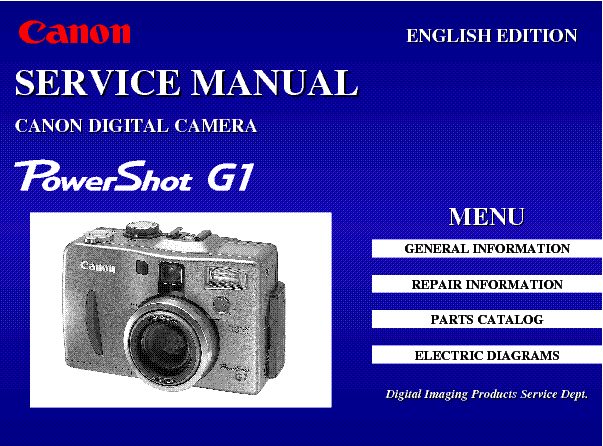 canon powershot a430 a420 sm service manual download schematics rh elektrotanya com Canon Owner's Manual Canon Waste Toner