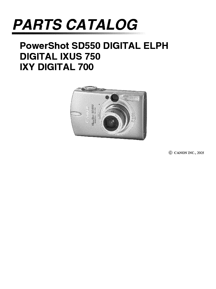 canon powershot sd550 ixus 750 parts service manual download rh elektrotanya com Canon PowerShot Sx610 User Manual Canon PowerShot SX130 Is Manual