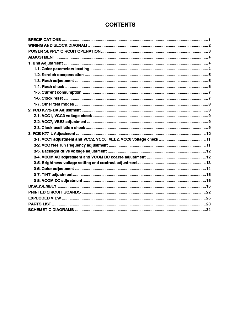 CASIO QV-700 service manual (2nd page)