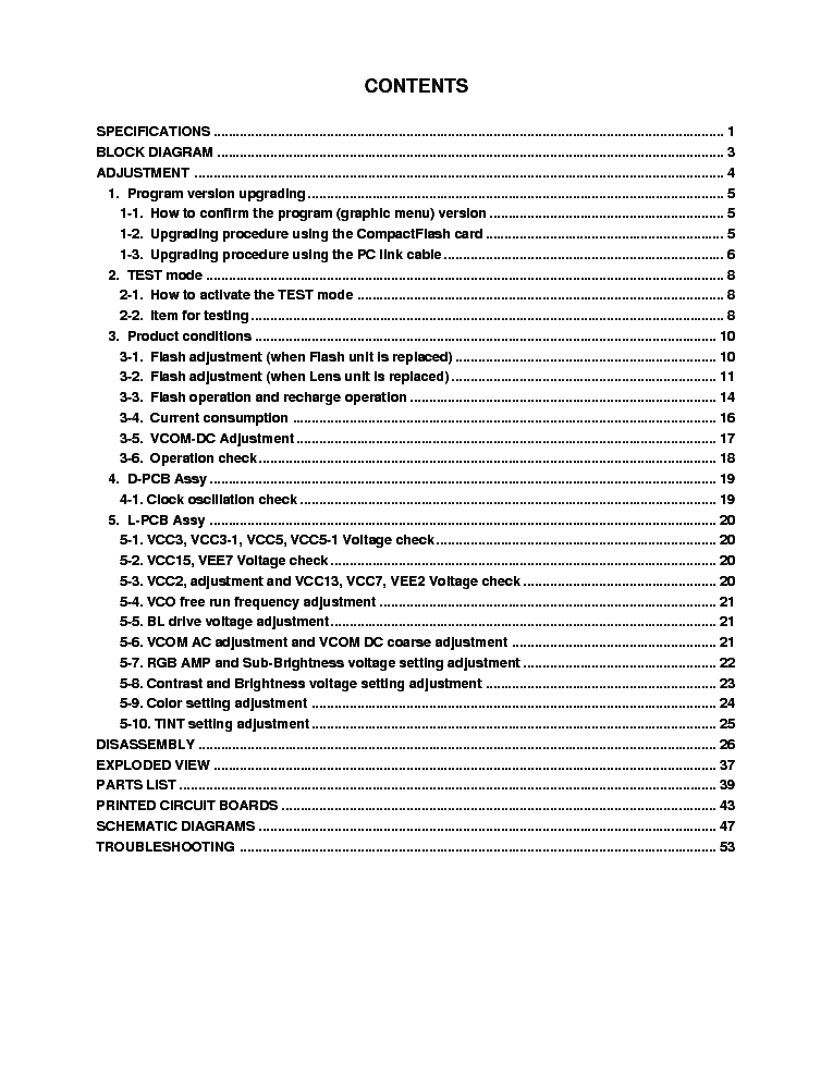 CASIO QV-8000SX SM service manual (2nd page)