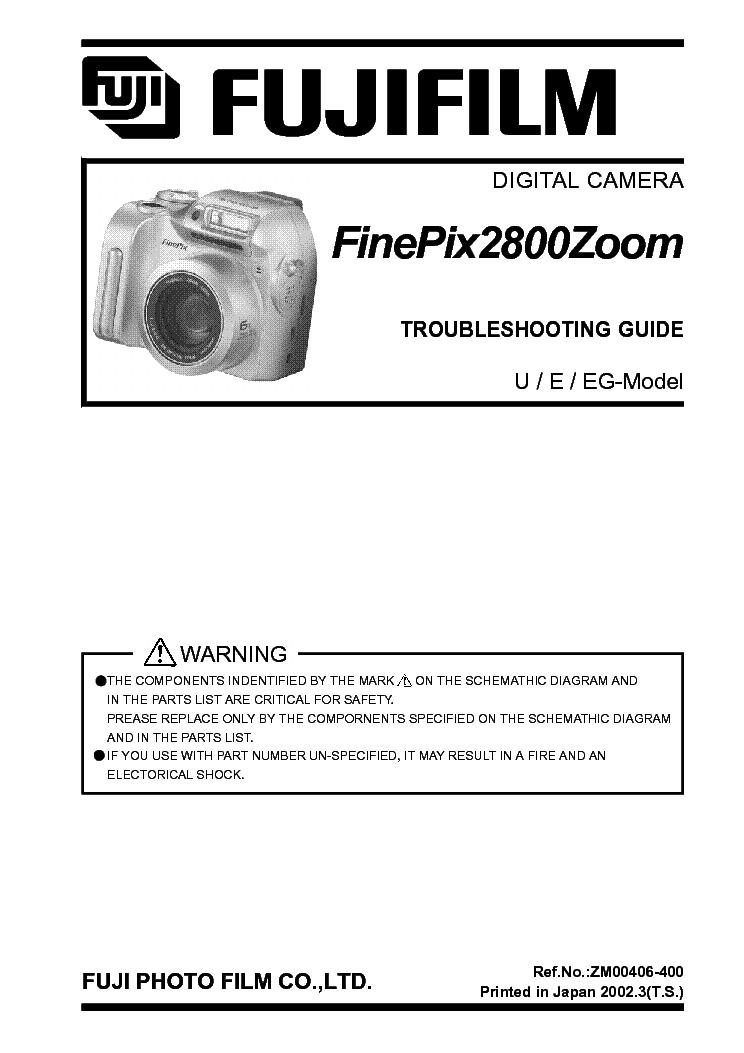 FUJIFILM FINEPIX S9000 S9500 SM Service Manual download