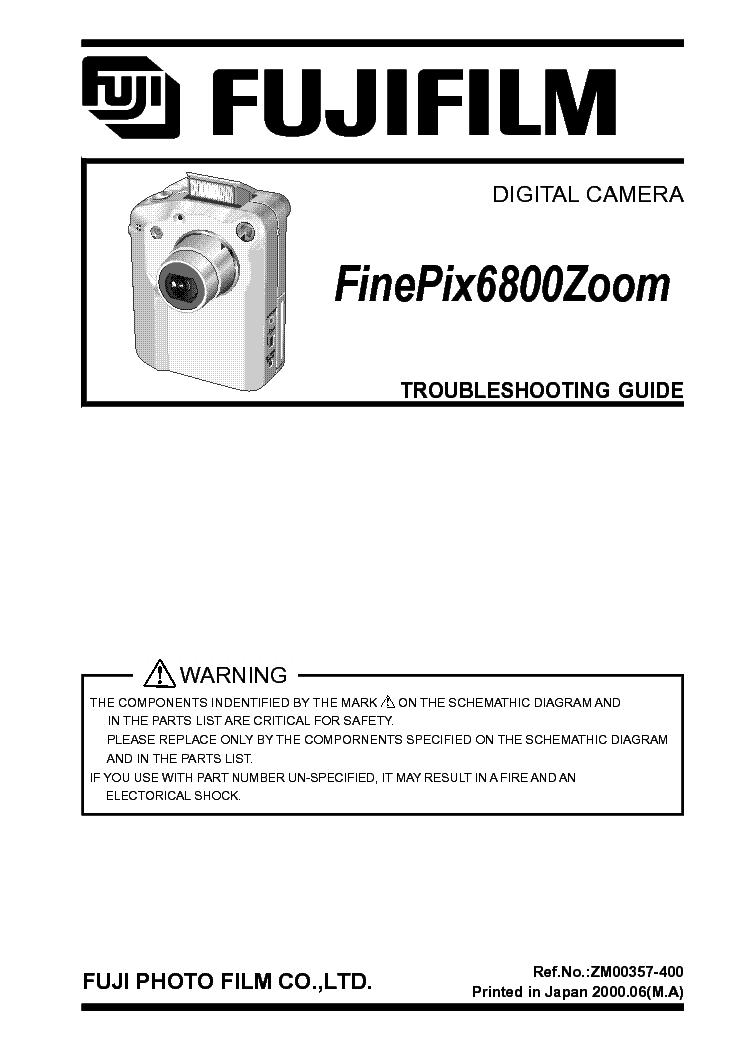 fuji finepix 6800z service repair manual