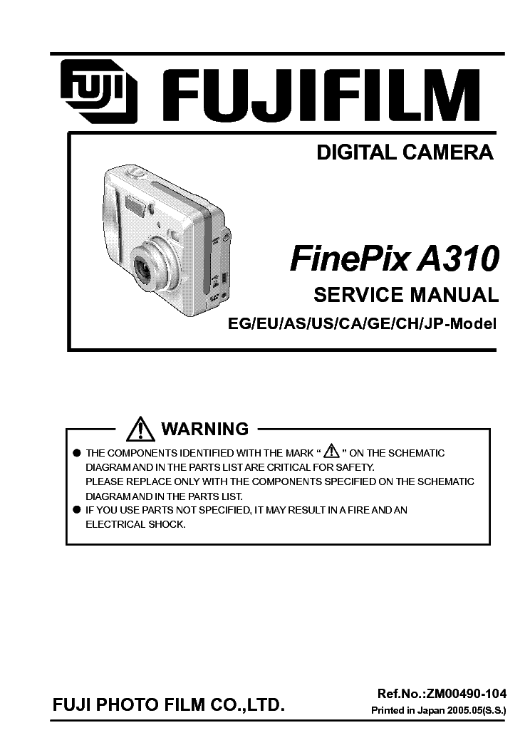 fujifilm finepix s5700 s700 service manual download schematics rh elektrotanya com Fujifilm S100FS Fujifilm S2 Pro
