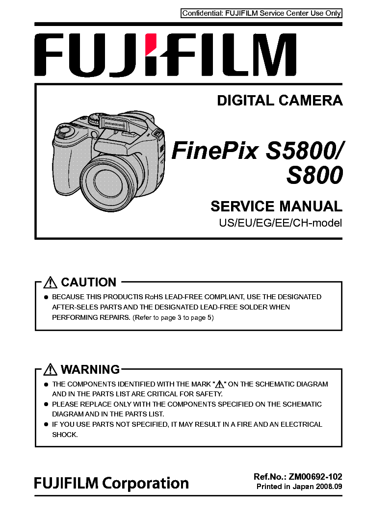 fujifilm finepix s5800 s800 sm service manual download schematics rh elektrotanya com fujifilm s5700 manual fujifilm s5100 manual