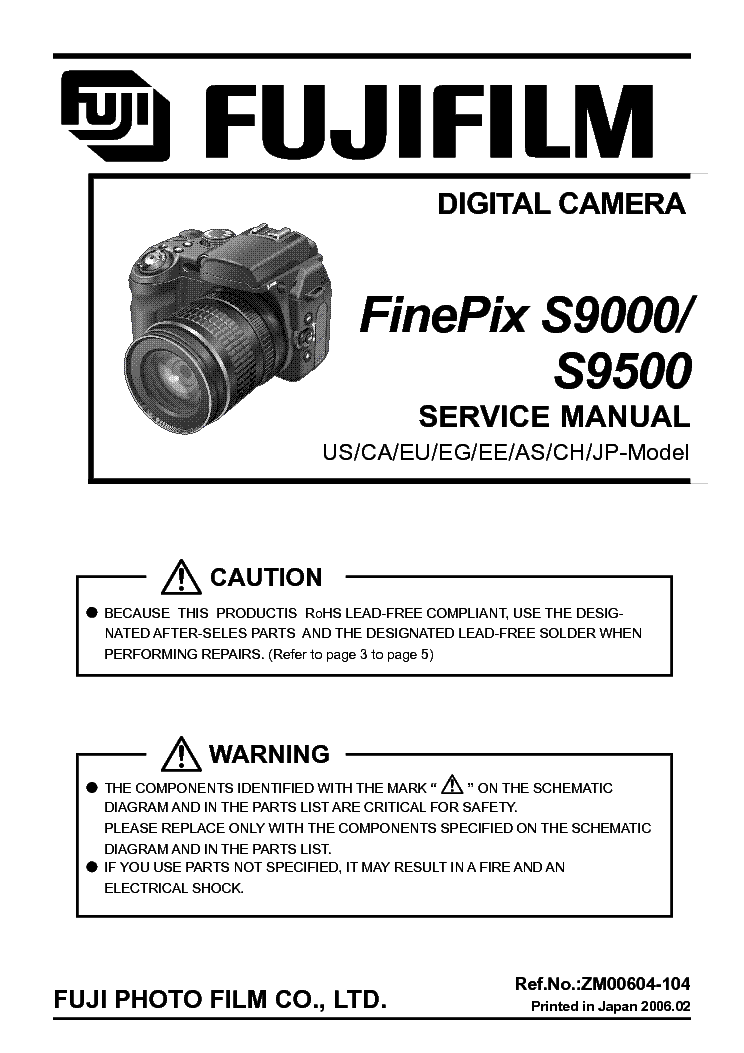 Fujifilm Finepix S9000 S9500 Sm Service Manual Download Schematics Eeprom Repair Info For Electronics Experts