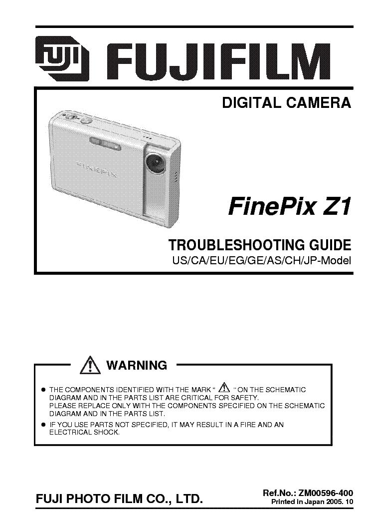 fujifilm finepix z1 troubleshooting service manual download rh elektrotanya com fujifilm finepix z1 manual fujifilm finepix z1 manual